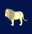 flat shading style icon lion vector image vector image
