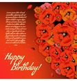 Floral decorative card with poppies vector image