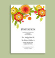 floral holiday card vector image vector image