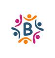 friendship teamwork parenting letter b vector image vector image