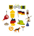 germany set flat icons vector image vector image