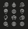 globe - icon vector image vector image