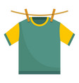 hanging t shirt icon flat style vector image vector image