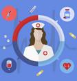 healthcare and medical concept nurse vector image vector image
