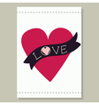 Heart And Ribbon Card vector image vector image