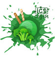 ice cream broccoli ball dessert choose your taste vector image vector image