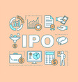 Ipo word concepts banner