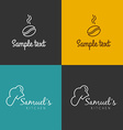 Line Art Badge or Logo Template Coffee Shop and vector image