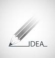 Logo pen with the inscription idea vector image vector image