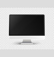 modern personal computer on transparent vector image