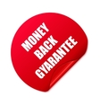 money back stickerset red round stickers vector image