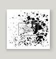 monochrome explosion paint splatter artistic vector image