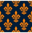 Orange royal french seamless pattern vector image vector image