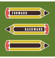 pencil as indicator vector image vector image