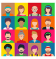 people avatar icons vector image vector image