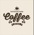 retro vintage coffee design background 0009 vector image vector image