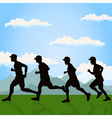 run of group of men on the nature a vector illustr vector image vector image