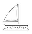 sailboat isolated symbol vector image