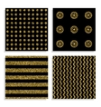 Seamless patterns set with gold dots vector image vector image