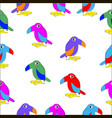 set of cartoon colorful birds vector image vector image