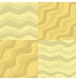 Set of seamless sand texture vector image vector image