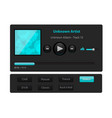 set of ui ux audio and video media player template vector image