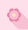 six petals red flower icon use for logo vector image vector image