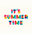 summer time motivational poster vector image vector image