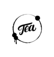 Tea hand written lettering logo label badge emblem vector image