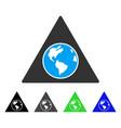 terra triangle flat icon vector image vector image