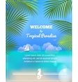 tropical paradise background vector image
