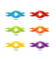 Twisted ribbon- abstract logo in different colors vector image