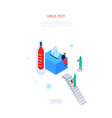virus test - modern colorful isometric web banner vector image vector image