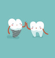 we are dentaltooth and teeth concept of dental vector image vector image