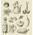 hand drawn food sketch vector image