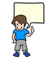 Talking boy vector image
