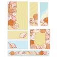 sea shell set templates vector image