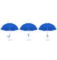 3d realistic render blue blank umbrella vector image