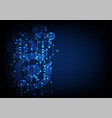 abstract blue colored technological background vector image vector image