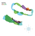 Abstract color map of Nepal vector image vector image