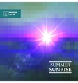 abstract summer sunrise background vector image vector image