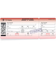 airline boarding pass vector image vector image