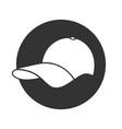 baseball cap white vector image vector image