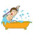bathtub time vector image vector image