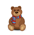 Bear isolated vector image vector image