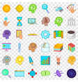 bisuness storm icons set cartoon style vector image vector image