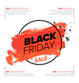 black friday poster flyer template vector image