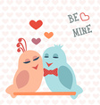 Card for Valentines Day Birds Heart Be mine vector image