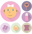 childrens icons on a white background vector image
