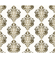 Classic style ornament damask pattern vector image vector image